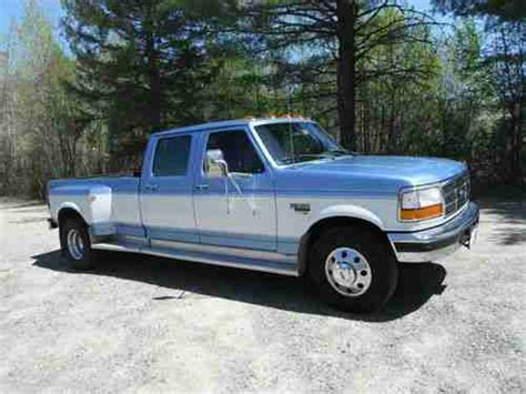 ford f 350 diesel dually sell used 1996 ford f 350 xlt crew cab dually diesel in