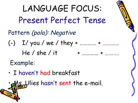 pattern past perfect tense present perfect tense