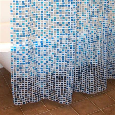 blue mosaic shower curtain blue tiles shower curtain everything turquoise