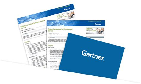 gartner research papers gartner recovery as a service report