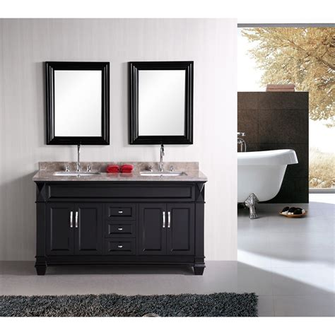 design element bathroom vanities design element hudson 60 quot sink bathroom vanity