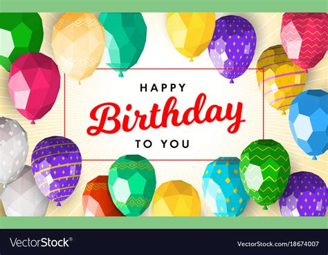 template for happy birthday card stock vector image 28714443