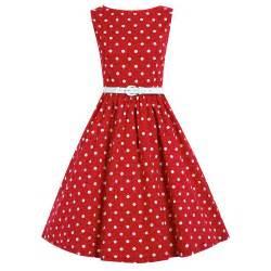 Dresses swing amp jive audrey red polka dot swing dress