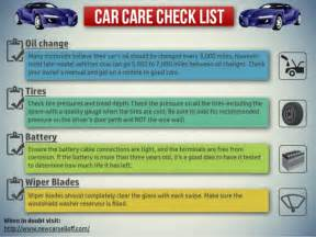 how to care for new car infographic car care checklist