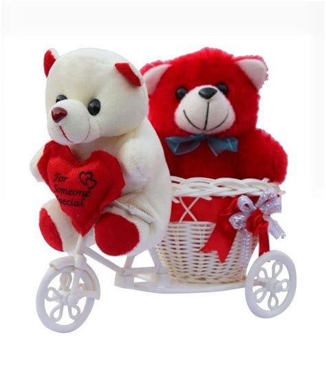 Home Decor Items In India by Ctw Red Love Basket Cycle Valentine Gift Set With Teddy