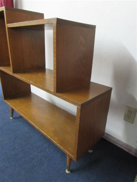 lot detail mid century mod bookshelf