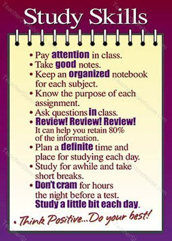 8 Tips On Friends In High School by Study Skills Argus 174 Poster Middle College And School