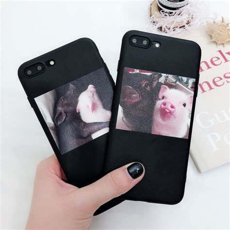 funny cartoon pig print pattern phone case  iphone  xr xs max case  iphone