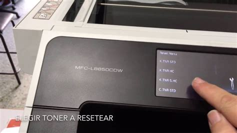 resetting brother toner reset toner brother mfc l8850cdw youtube
