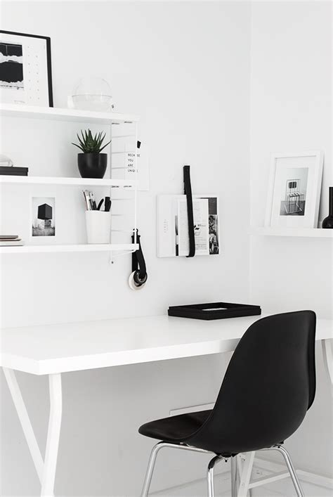 small black and white home office inspirations workspace love elv s bloglovin