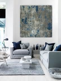 large modern canvas wall large abstract painting teal blue navy grey gray white