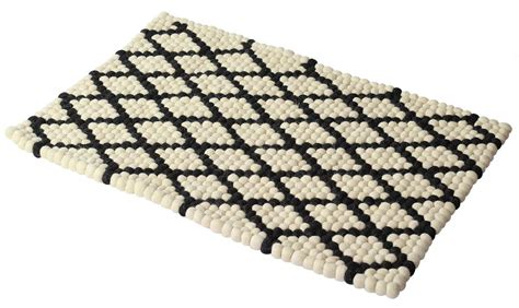 100 Grid Rug Mat by Rectangular Door Mat In Beige With Black Grid