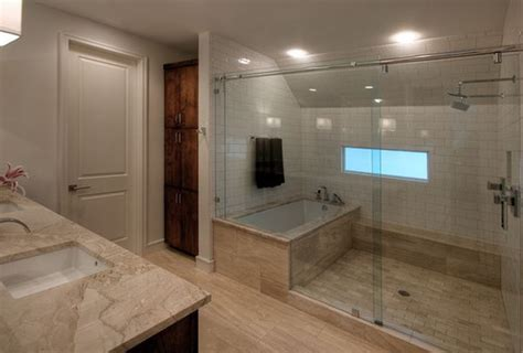 Large Bathroom Designs How You Can Make The Tub Shower Combo Work For Your Bathroom