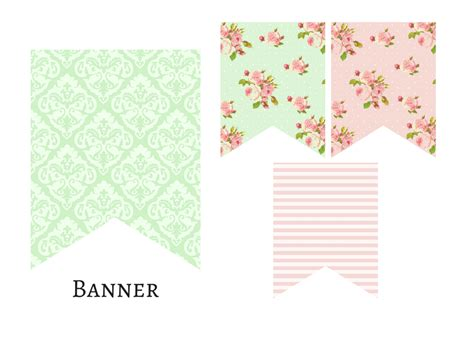 Printable Baby Shower Banners by Pink Mint Shabby Chic Banner Magical Printable