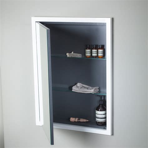 Roper Rhodes Scheme 600 X 75mm Recessed Cabinet Schcab675 Gw Bathroom Mirror Cabinet Recessed