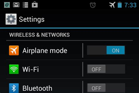 how to use android phone as wifi only device - Airplane Mode Android