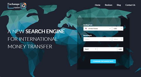 global money transfer exchange rate iq search and compare platform for global