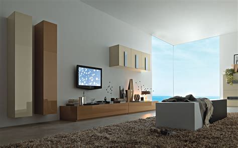 contemporary tv wall units   living room