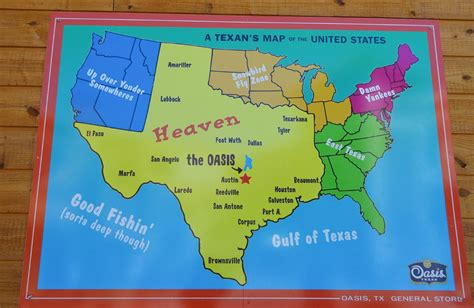 give me a map of texas a texan s perception of the united states