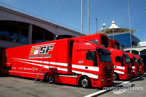 ferrari pickup truck scuderia ferrari trucks at turkish gp