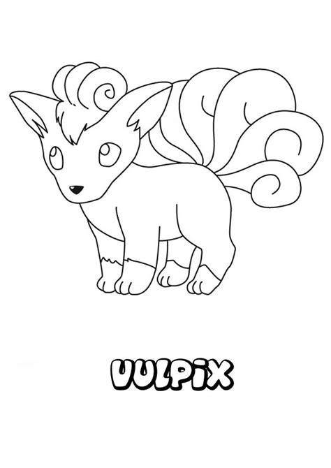 pokemon coloring pages vulpix pokemon vulpix drawing images