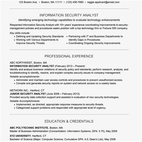 information security analyst job title docs