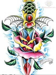 rose dagger old tattoojpg picture