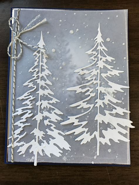 my christmas tree died stin up lovely as a tree tim holtz woodlands die card my card creations
