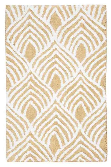 Patterned Bathroom Rugs Mira Patterned Bath Mats
