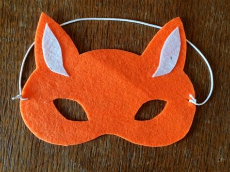 How To Make A Paper Fox Mask - fox mask no sew fox mask felt fox mask felt mask how
