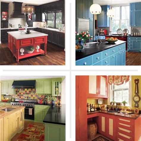 Can You Paint Kitchen Cabinets Two Colors In A Small Kitchen The Decorologist Colorful Cook Spaces 12 Kitchen Cabinet Color Combos That Really Cook This House