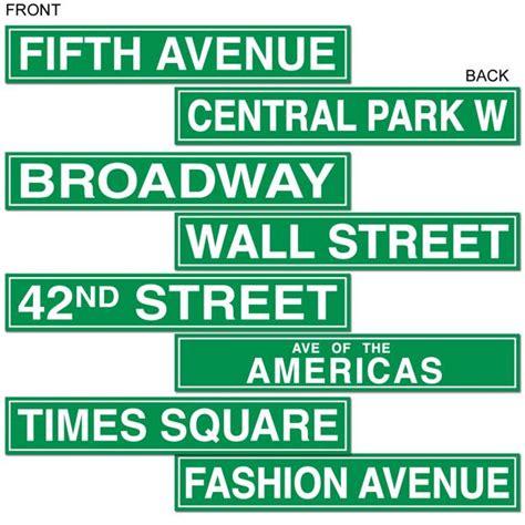 york city street sign cutouts hollywood awards night