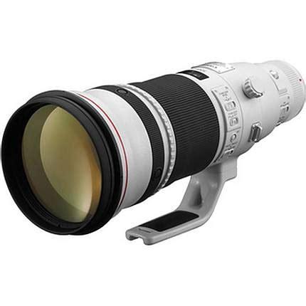 canon ef 500mm f/4l is ii usm super telephoto lens white