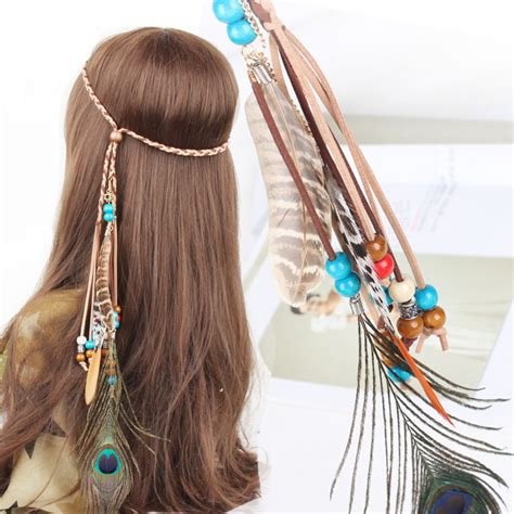 Indian Headbands Peacock Feather Hair Accessories aliexpress buy new color headband