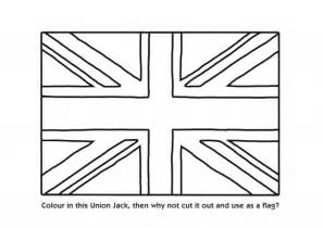 Union Jack Flag Coloring Page Sketch sketch template