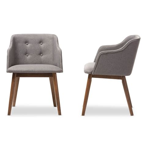 Grey Fabric Dining Chairs Adore Grey Fabric Mid Century Armchair Modern Furniture Brickell Collection