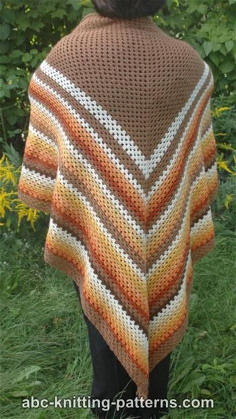 free pattern easy crochet triangle shawl abc knitting patterns autumnal triangle shawl
