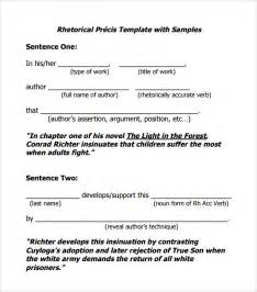 sample rhetorical precis 5 documents in pdf