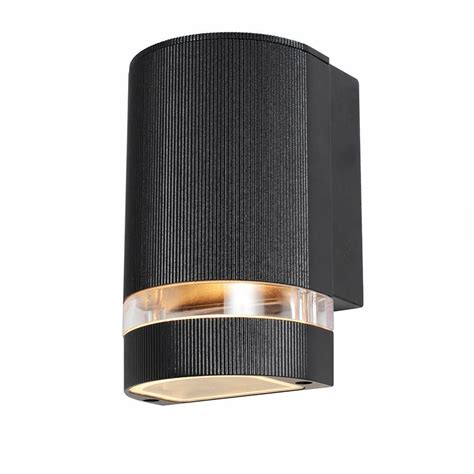 black light light holme small up or down light outdoor wall light black