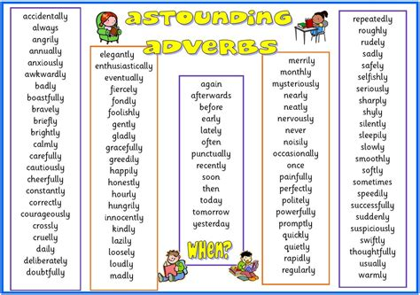 exle of adverb adverbs enjoyable learning