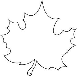 cute fall leaf clipart black white clipground