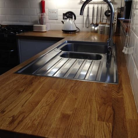 Kitchen Sink Worktop Oak Worktop Sink Up Hartwood Timber