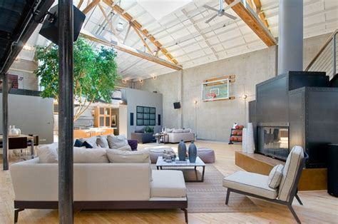 spacious loft in san francisco luxury topics luxury spacious loft home inspired from airplane hangar design