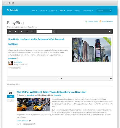 blog layout in joomla review responsive joomla template ja beranis featuring