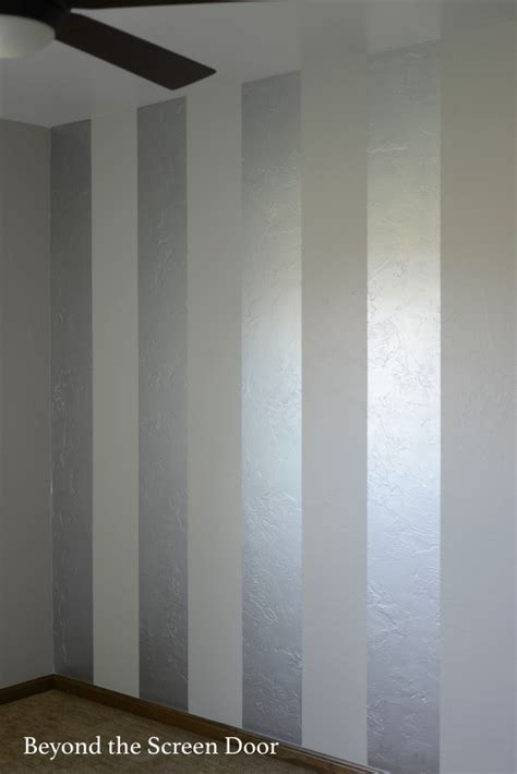 silver paint colors walls painting gold silver metallic stripes beyond the