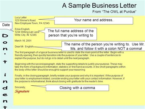 Business Letter Purpose purpose of writing a business letter letter of