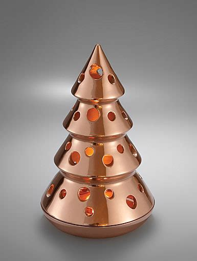 nambe christmas heritage christmas tree luminary copper