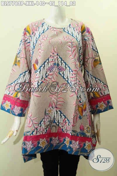 Gamis Batik Big Size blus batik big size pakaian batik keren masa kini baju
