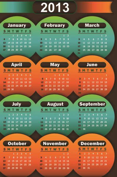 calendar design elements 2013 calendars design elements vector free vector in