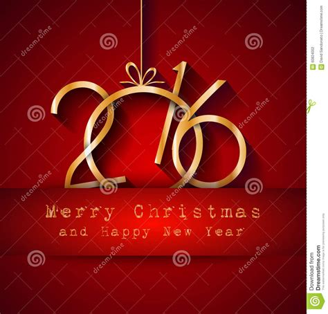 party title for christmas new year 2016 and happy new year flyer vector illustration cartoondealer 60611002